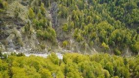 Antena da floresta alpina austríaca Wildnisgebiet Duerrenstein video estoque