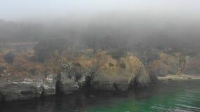 Antena da névoa e do Rocky Northern California Coast filme