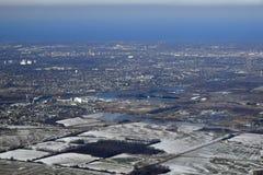 Antena da península de Niagara foto de stock royalty free