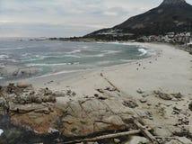 Antena da praia de Cape Town Campsbay Foto de Stock Royalty Free