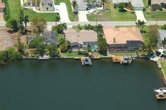 Antena da propriedade do beira-rio Imagem de Stock Royalty Free