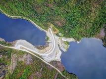 Antena da represa de Noruega imagem de stock royalty free