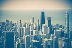 Antena da skyline de Chicago Imagens de Stock