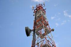 Antena da telecomunicação Fotos de Stock Royalty Free