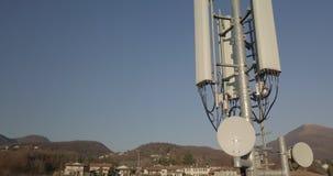 Antena da torre da telecomunicação video estoque