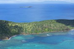 Antena das ilhas das Caraíbas e do mar Foto de Stock