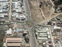 Antena de Addis Ababa, Etiopía imágenes de archivo libres de regalías