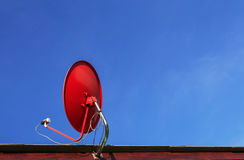 Antena de antena parabólica Foto de Stock Royalty Free