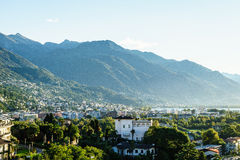 Antena de Ascona, Suiza Fotos de archivo libres de regalías