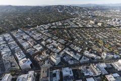 Antena de Beverly Hills California Business District Imagem de Stock Royalty Free
