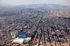 Antena de Ciudad de México Foto de archivo libre de regalías