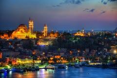Antena de Estambul con la mezquita azul y Hagia Sophia Imágenes de archivo libres de regalías