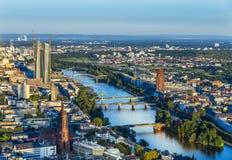 Antena de Francoforte com BCE Fotografia de Stock Royalty Free