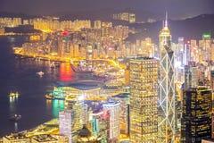 Antena de Hong Kong Skyline Imagen de archivo