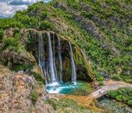 Antena de Krcic de la cascada Fotografía de archivo libre de regalías