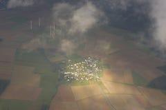 Antena de la aldea alemana Fotos de archivo libres de regalías