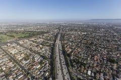 Antena de la autopista sin peaje de Los Ángeles 405 Foto de archivo libre de regalías