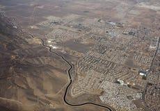 Antena de Palmdale California del acueducto de California Fotos de archivo