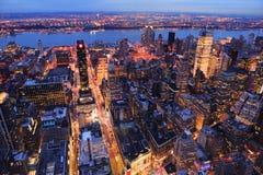 Antena de la calle de New York City Manhattan Foto de archivo