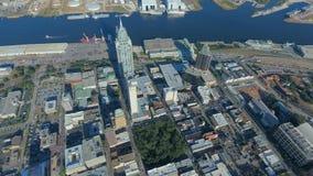 Antena de la ciudad de puerto 1 imagen de archivo libre de regalías