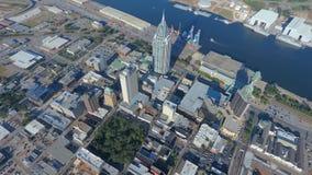 Antena de la ciudad de puerto imagen de archivo