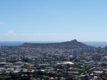 Antena de la ciudad de Honolulu de Diamond Head a Manoa foto de archivo libre de regalías