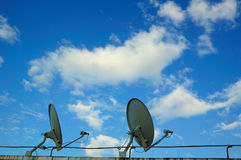Antena de la comunicación Foto de archivo libre de regalías