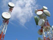 Antena de la comunicación Imagenes de archivo