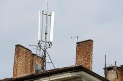 Antena de la comunicación móvil Imágenes de archivo libres de regalías