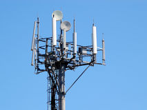 Antena de la estación de GSM/UMTS Foto de archivo libre de regalías
