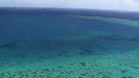 Antena de la gran barrera de coral del australiano metrajes