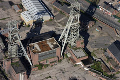 Antena de la mina de carbón Fotos de archivo