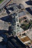 Antena de la mina de carbón Imágenes de archivo libres de regalías
