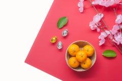 Antena de la opinión de sobremesa de accesorios y del concepto chino del Año Nuevo y lunar del Año Nuevo del festival Imagen de archivo