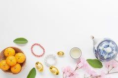 Antena de la opinión de sobremesa de accesorios y del festival chino del Año Nuevo y lunar del Año Nuevo Fotos de archivo