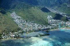 Antena de la península de Paiko, Kuli& x27; Ou& x27; Valle del Ou, Hawaii Kai, Foto de archivo libre de regalías