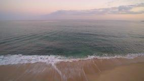 Antena de la playa en México almacen de video