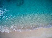 Antena de la playa de Kathisma en la isla Grecia de Lwfkada fotos de archivo libres de regalías