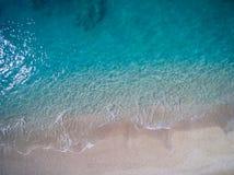 Antena de la playa de Kathisma en la isla Grecia de Lwfkada imagenes de archivo