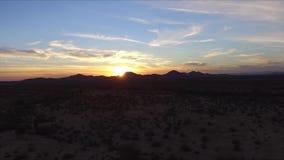 Antena de la puesta del sol metrajes