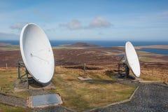 Antena de la recepción de las islas TV Foto de archivo libre de regalías