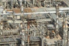 Antena de la refinería de petróleo Imágenes de archivo libres de regalías