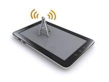 Antena de la tableta y de la radio Fotos de archivo
