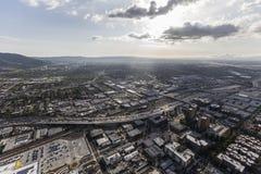 Antena de la tarde de Burbank California Imagenes de archivo