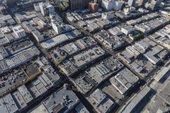 Antena de la tarde de los tejados céntricos de Los Ángeles Fotos de archivo libres de regalías