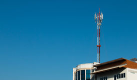 Antena de la TV Foto de archivo libre de regalías