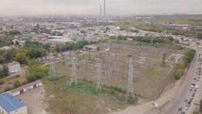 Antena de la zona industrial metrajes