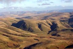 Antena de las colinas de Scotish Imagen de archivo libre de regalías