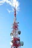 Antena de las comunicaciones Fotografía de archivo libre de regalías