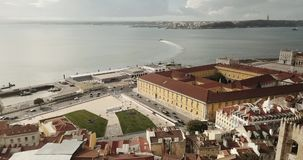 Antena de Lisboa Portugal video estoque
